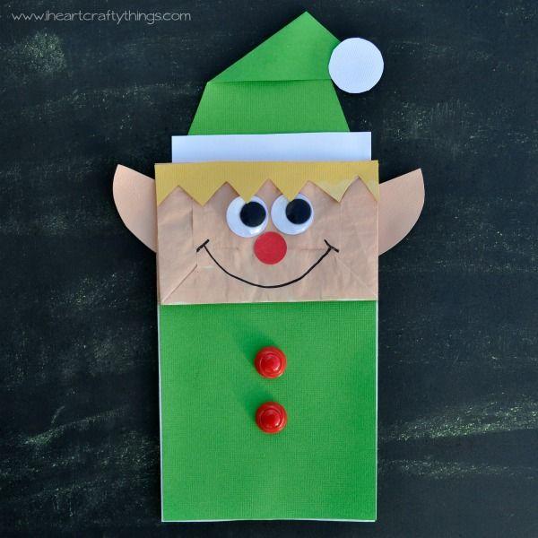 Paper Bag Elf Craft Christmas Crafts For Kids Crafts Paper Crafts