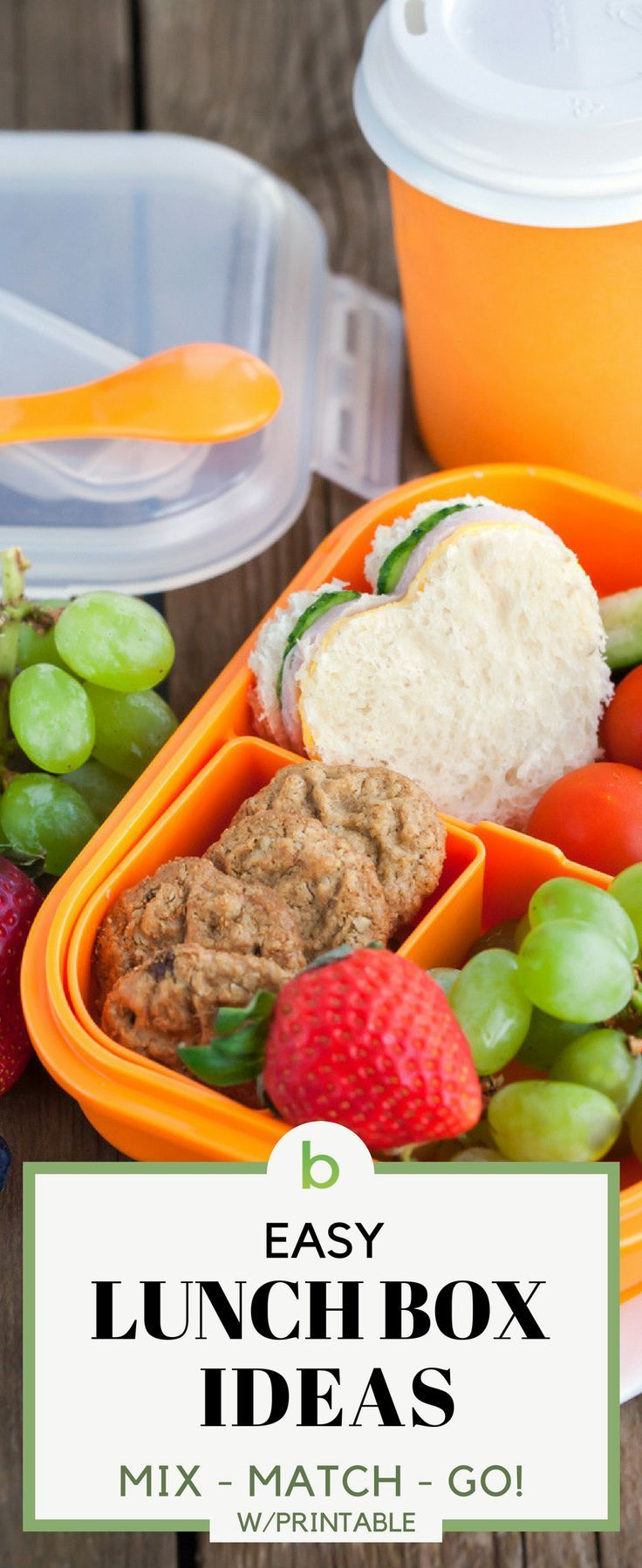 Easy Lunch Box Ideas For Kids [Printable images