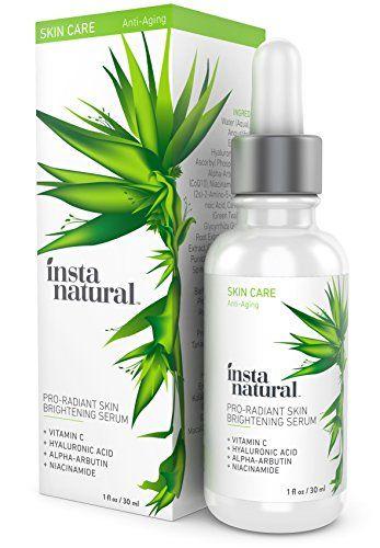 InstaNatural Vitamin C Serum mit Hyalurons�ure, Niacinamid & CoQ10 -Bestes hautaufhellendes & Feuchtigkeitscreme, um Falten, Akne, Hautunreinheiten & feine F�ltchen zu verringern -30ml