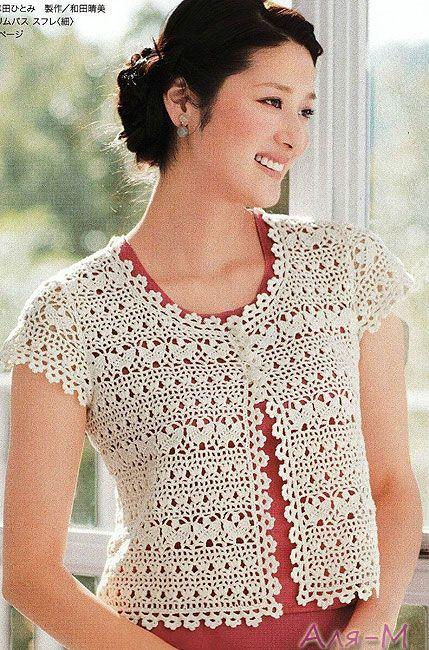 Short Summer Jacket Pattern Crochet Sweater Cardigans Pullovers