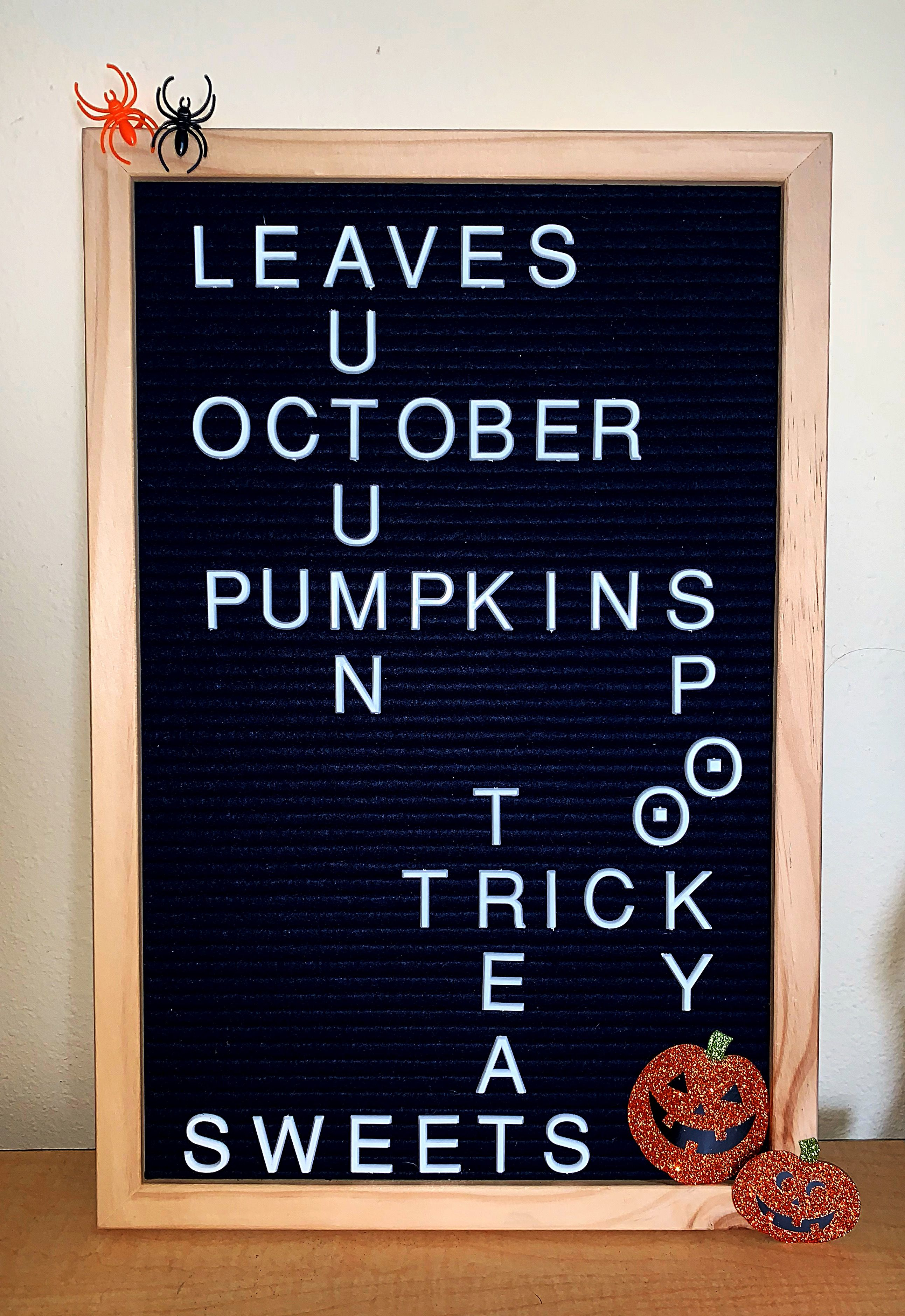 halloween letterboard spooky october autumn fall