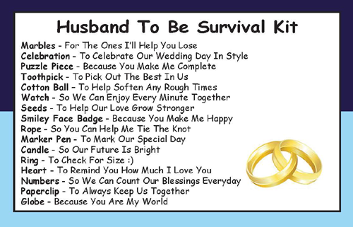 Gift To Husband On Wedding Day: Husband To Be Survival Kit In A Can
