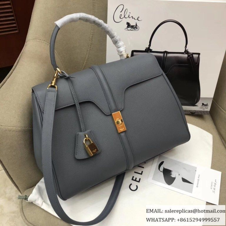 ecfa18102935 Celine Medium 16 Bags-Grained Calfskin-Medium-Grey