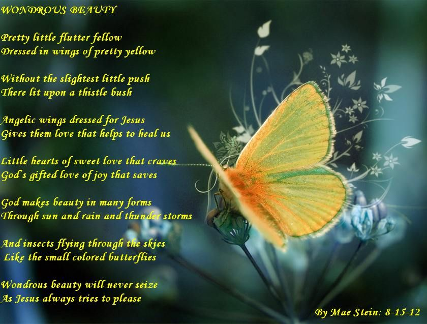 Nature Poems WONDROUS BEAUTY OF NATURE Nature Poems