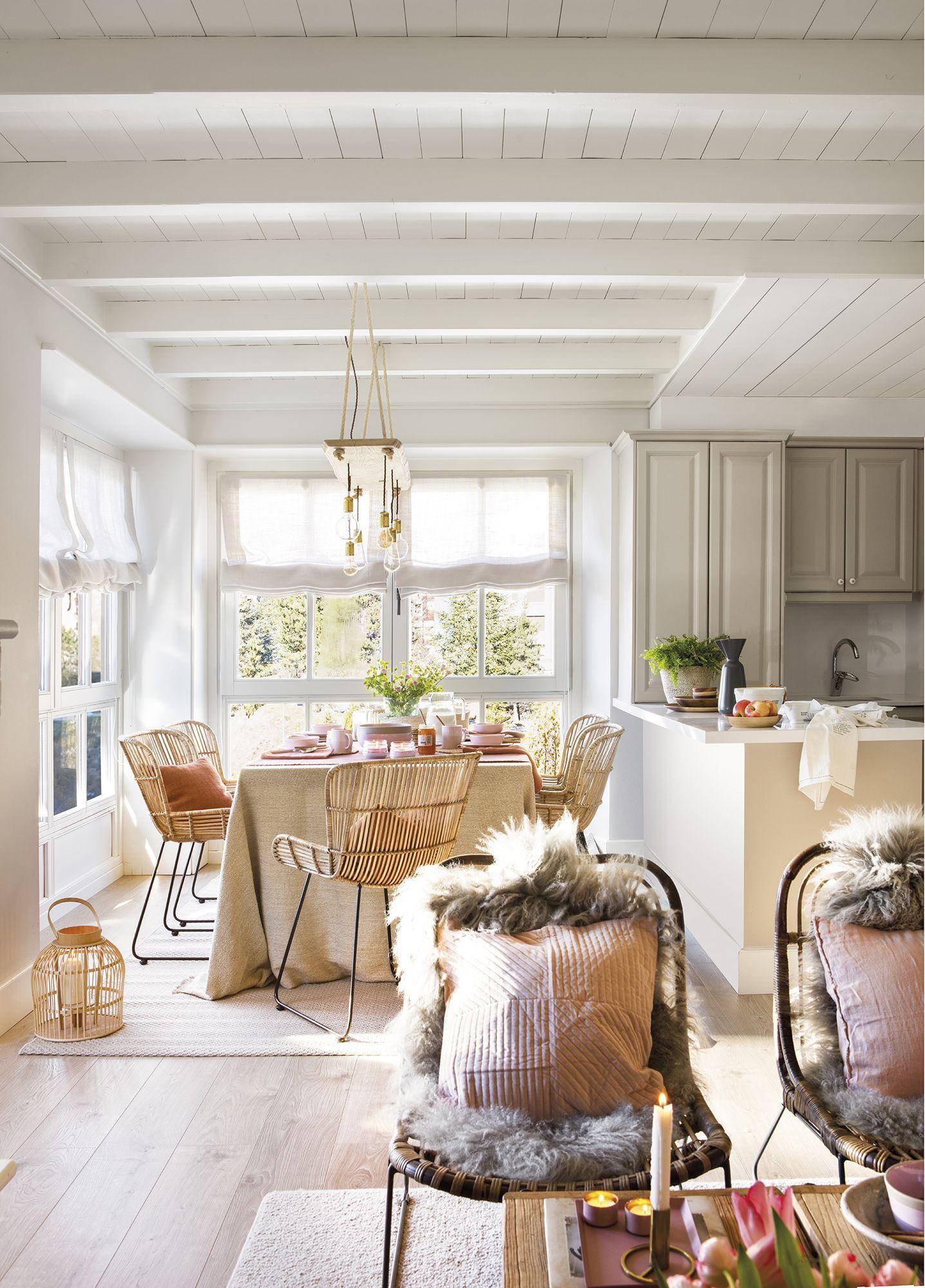 Una mini cocina abierta  Cuisine ouverte sur salon, Style salon