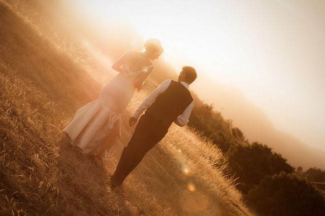 private married moments / one of my favorite bride & groom photos ever.  The light is THAT good!