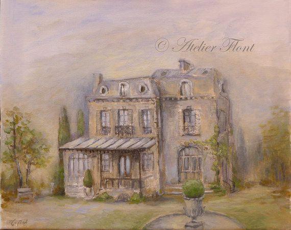 """ Belmond House ""  Hotel particulier et parc à Neuilly  by HelenFlont -Original painting"