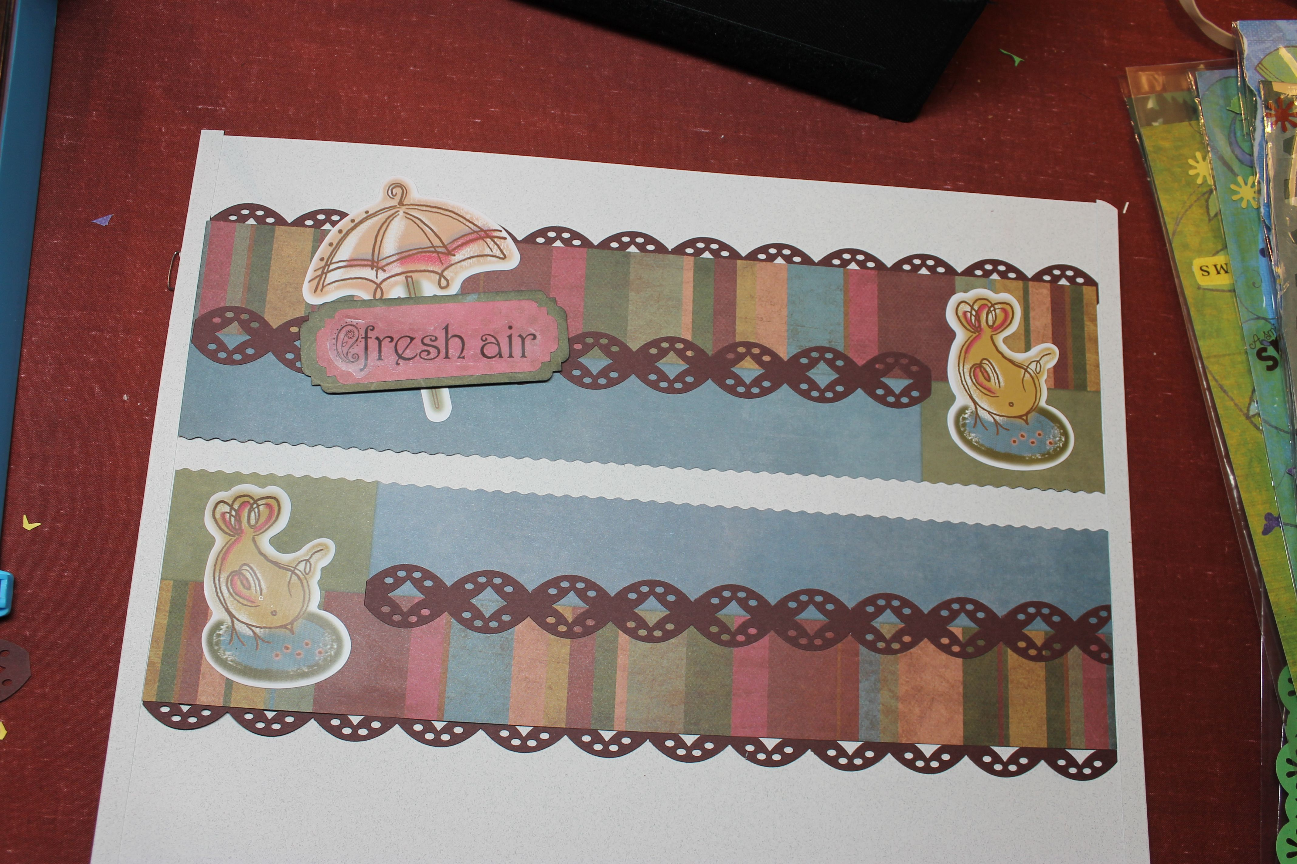 Scrapbook border ideas - Earthy Power Palette Paper And Stickers