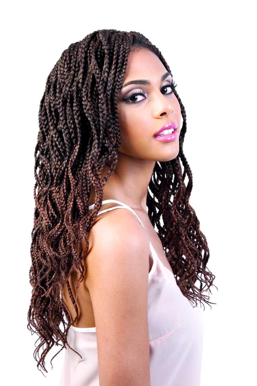 Motown Tress 2x Angels Wavy Box Braid Crochet Braiding Hair 20 In