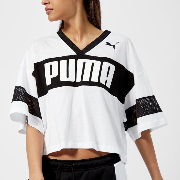 229a9fb71d1cba Puma Women s Urban Sports Cropped T-Shirt - Puma White