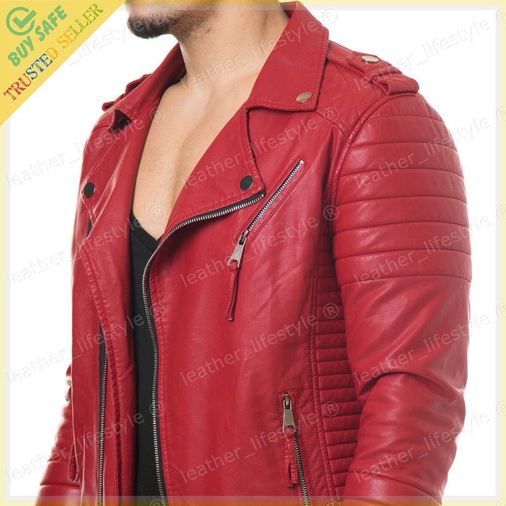 Mens Leather Jacket Stylish Genuine Lambskin MJ20