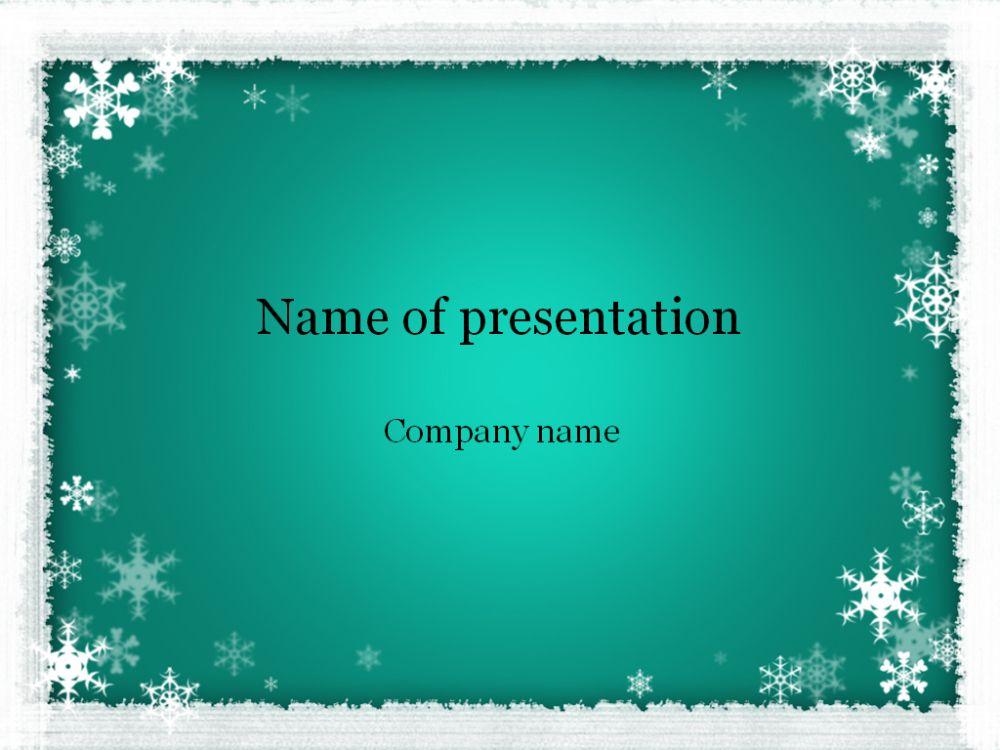 Winter Powerpoint template DECEM News tamplet Pinterest Template