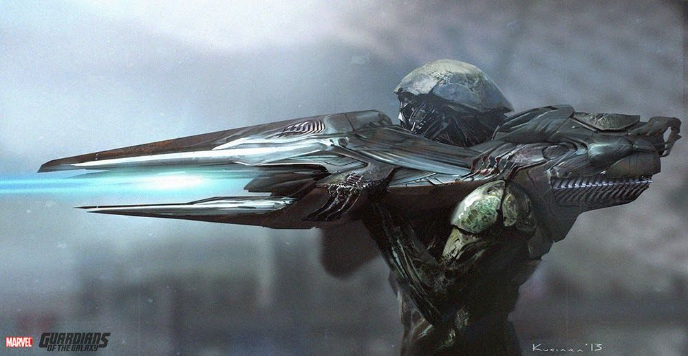 Amazing GUARDIANS OF THE GALAXY Weapons Concept Art by Maciej Kuciara « Film Sketchr