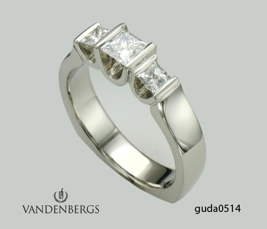 Three Stone Diamond Engagement Ring From Vandenbergs Fine Jewellery.