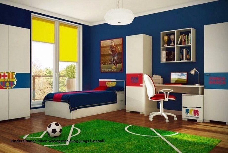 Kinderzimmer Ideen Wandgestaltung Jungs Fussball