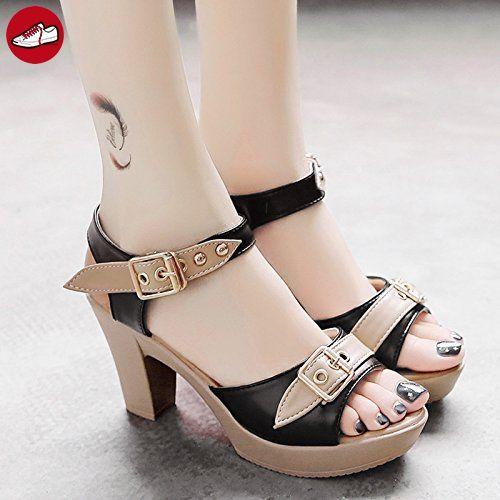 RUGAI-UE Weibliche Sandalen mit High Heels und High Heels