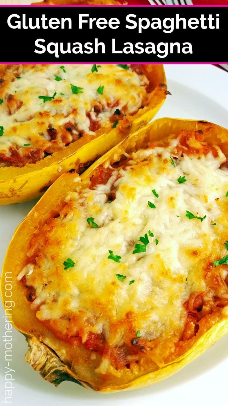 Gluten Free Spaghetti Squash Lasagna - Happy Mothering Love lasagna, but can't have it due to your
