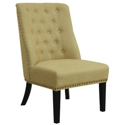 Three Posts Vivian Side Chair Upholstery: Yellow
