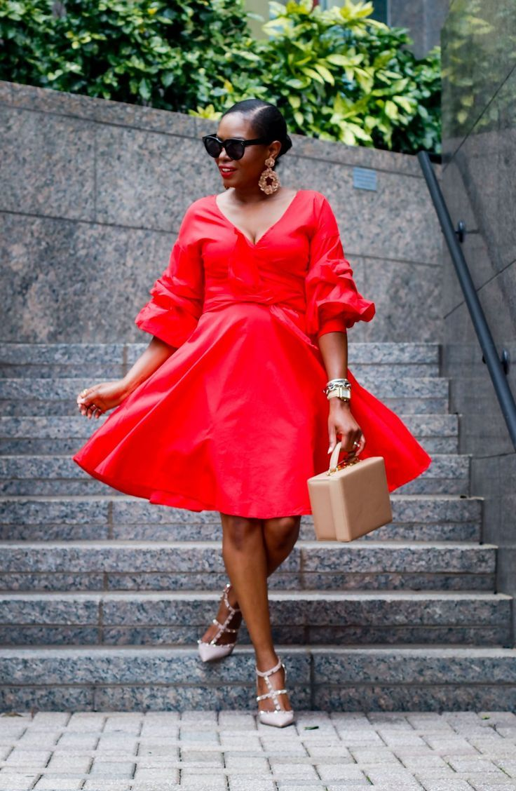The perfect red wrap dress for both summer and fall special