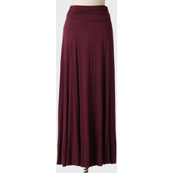 burgundy maxi skirt in chiffon as well looks