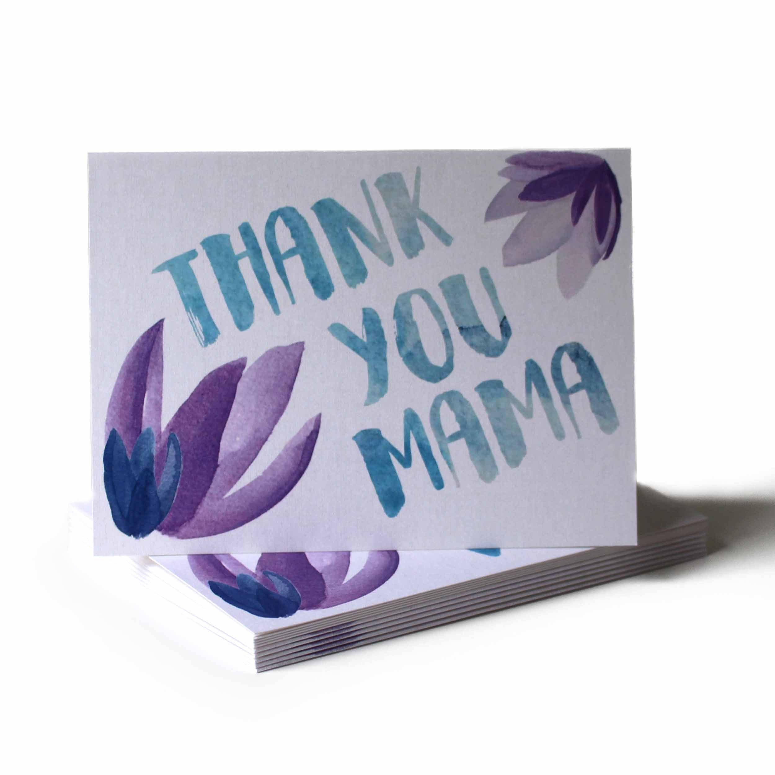 Thank You Mama Mothers Day Greeting Card Mailing Envelopes