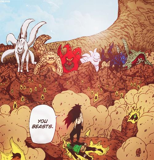 Madara Uchiha & the Tailed Beasts.