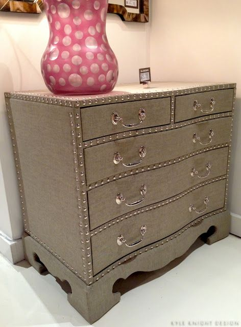 Mr Brown linen covered chest