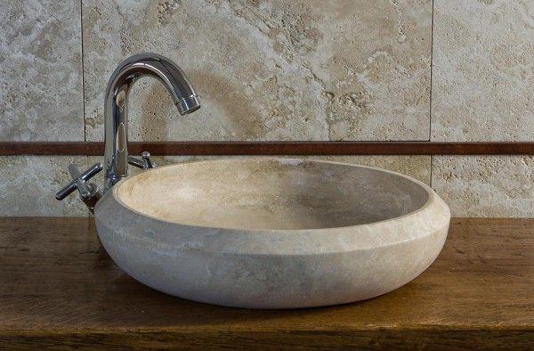 Lavandino Piccolo Per Bagno.Essential Lavandino In Travertino Per Bagno Piccolo Riad Bagni