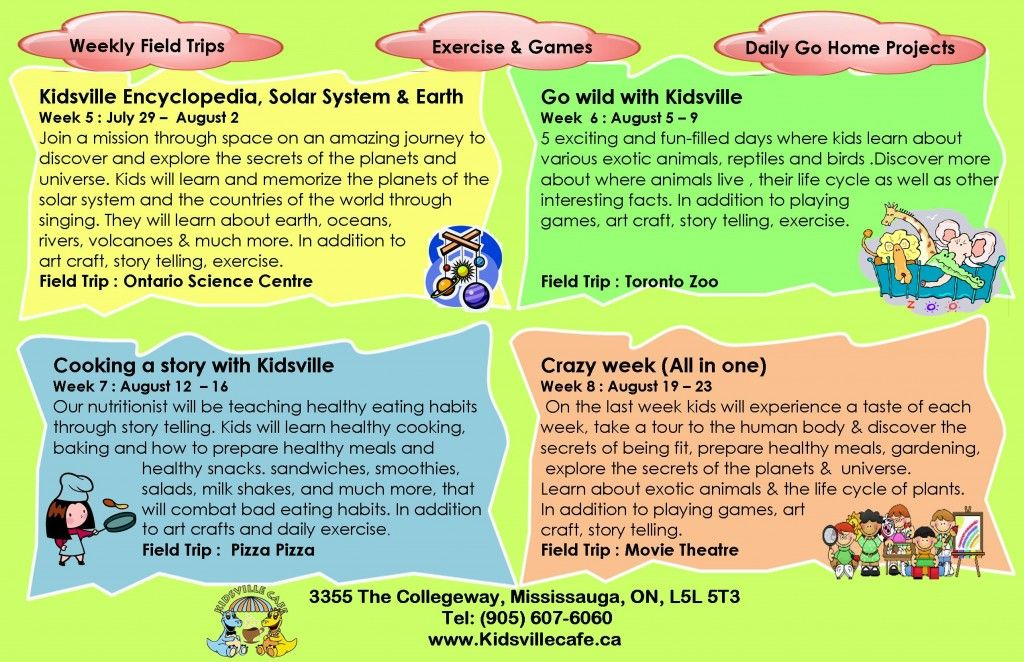 Day Camp Weekly Themes Outline Idea Summer Camp Summertime Fun