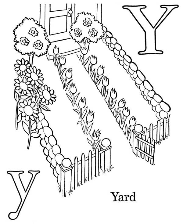 Letter Y Is For Yard Coloring Page Bulk Color Coloring Pages Lettering Online Coloring