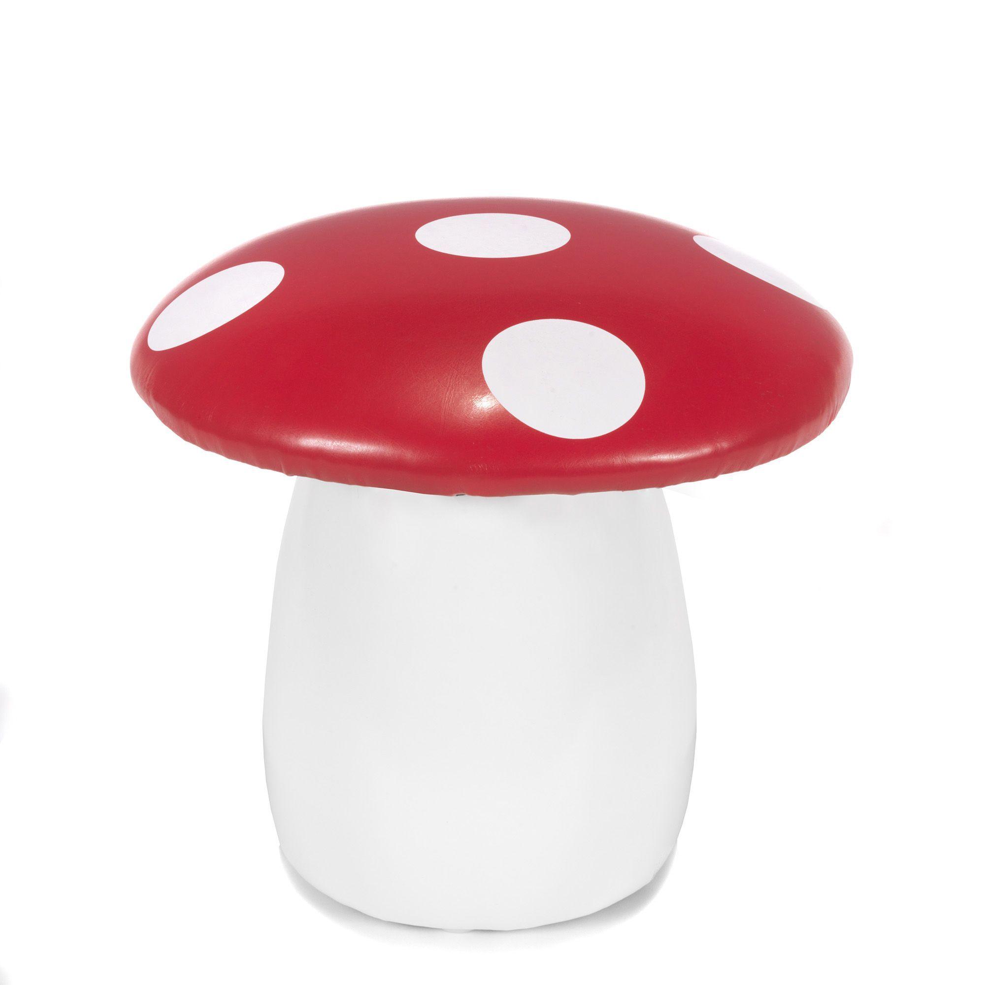 pouf enfant en forme de champignon rouge blanc champi les coussins enfants coussins. Black Bedroom Furniture Sets. Home Design Ideas