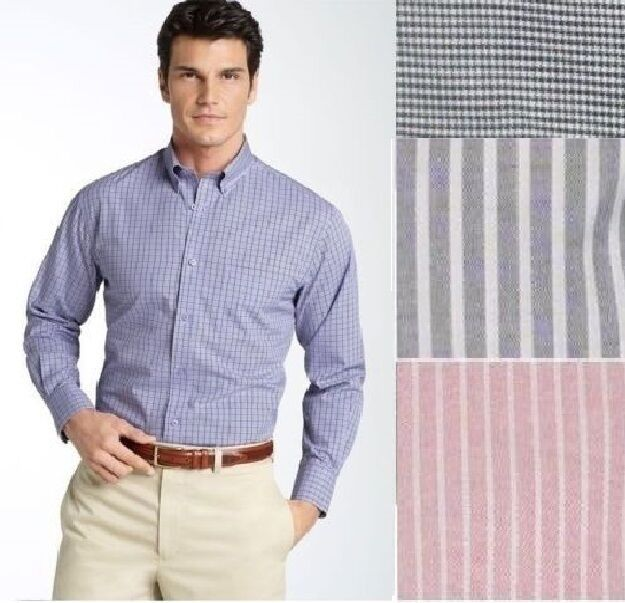 NEW Stafford Mens Dress Shirt Wrinkle Free Oxford size 145