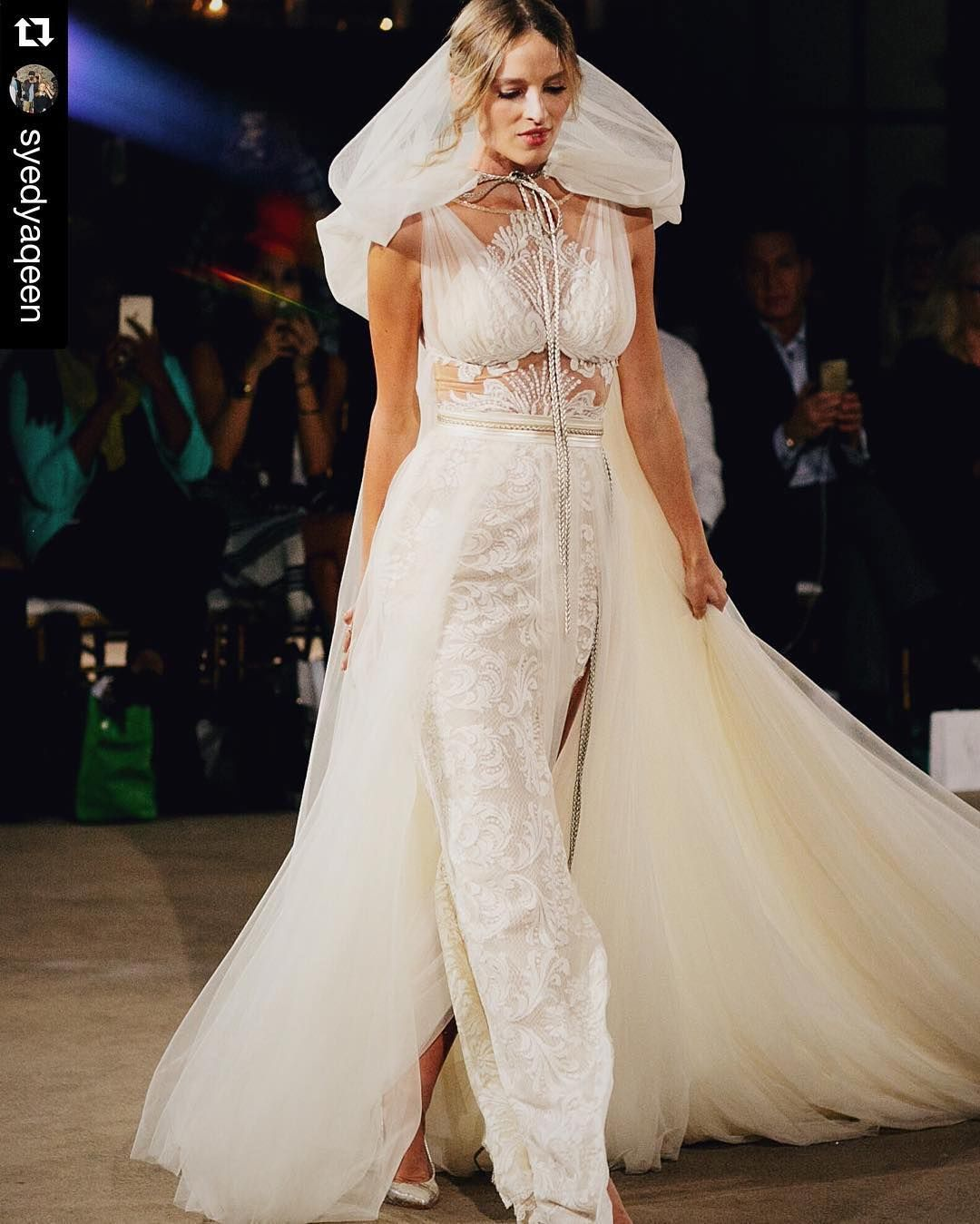@galialahav at #NYBFW in @nypl  photographer @syedyaqeen #headpiece @millelacouture  #galialahav #millelacouture #galialahavbridal #bridalweek #bridalmarket #nybridalweek #bridalfashion | #synybfw | #fashionweek #fashion #bridalfashion #bridalblogger #fashionblogger #vsco by nybfw