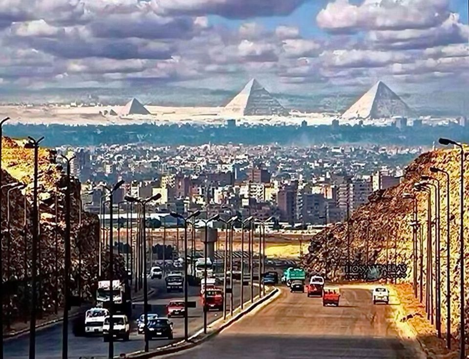 The Pyramids from the City of Cairo