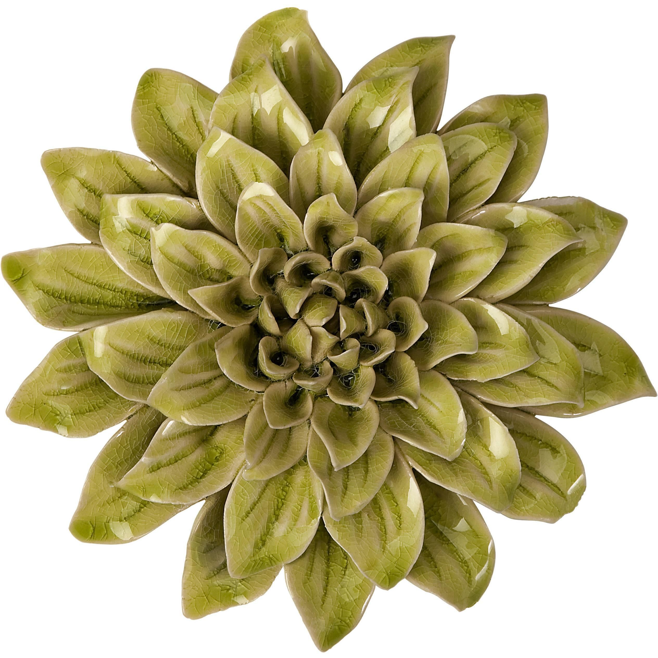 Isabella Small Ceramic Wall Decor Flower | Wall decor, Small wall ...