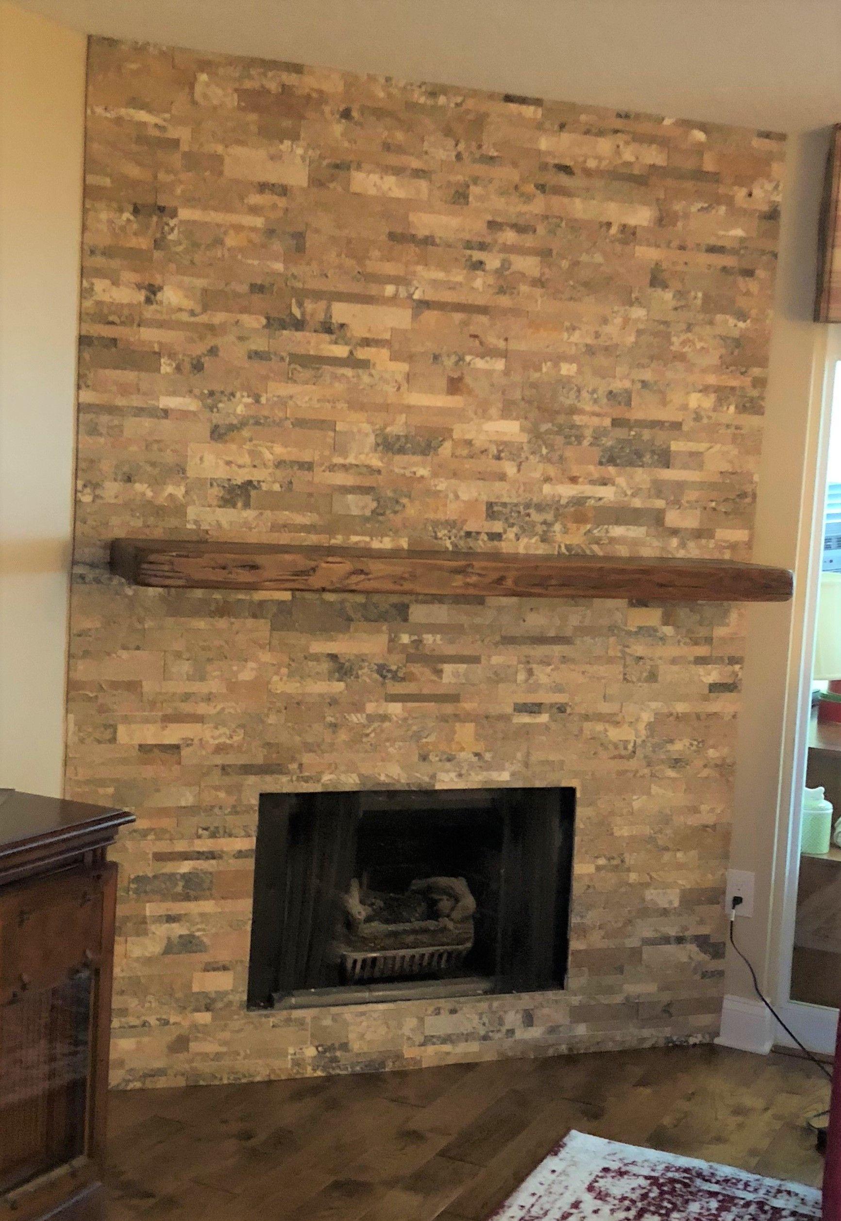 Reclaimed Wood Mantel In Rustic Walnut Finish Wood Mantels