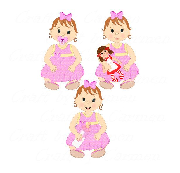 Baby Girl Babies Clipart Baby Shower Clip Art Cute Baby Digital