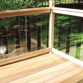 Install a railing with glass panels   Deck railings, Deck ...