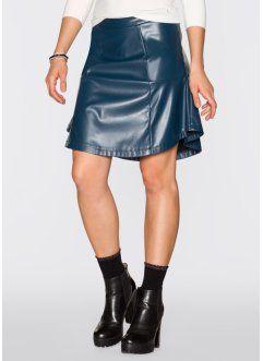 284516d52677d Jupe patineuse simili cuir, RAINBOW, bleu pétrole   bon prix ...