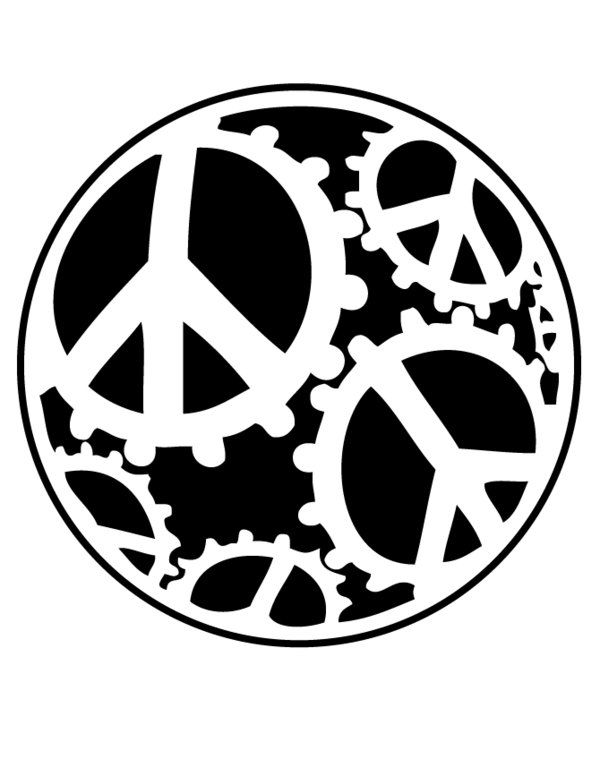 global peace sign coloring page free printable peace sign