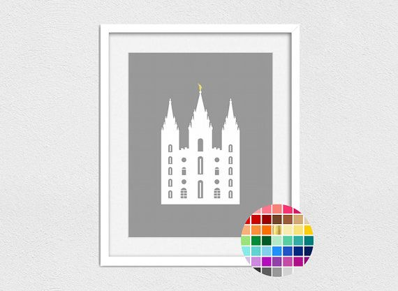 Salt Lake Temple Print // Instant Download // by LetThemBeGold