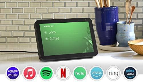Echo Show 8 – HD 8 smart display with Alexa - Charcoal / Device only