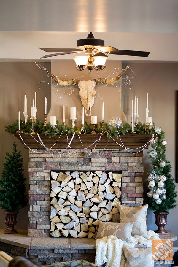 Christmas Decorating Ideas for a Rustic Glam Mantel ...