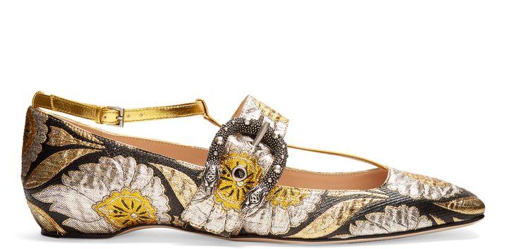 b9fb0a860 GUCCI Dionysus jacquard ballet flats Ugg Loafers, Kitten Heel Pumps, Ugg  Shoes, Shoe
