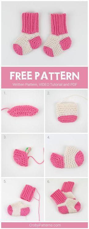 Free Crochet Pattern For Baby Socks Pattern By Croby Patterns