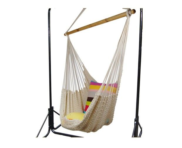 cotton rope hammock chair set with stand cotton rope hammock chair set with stand   design   pinterest      rh   pinterest