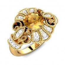 Gaurita Citrine Ring