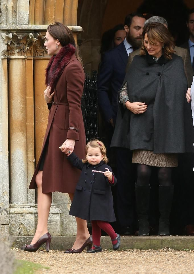 The Royals later left the church with Charlotte and George clutching candy canes