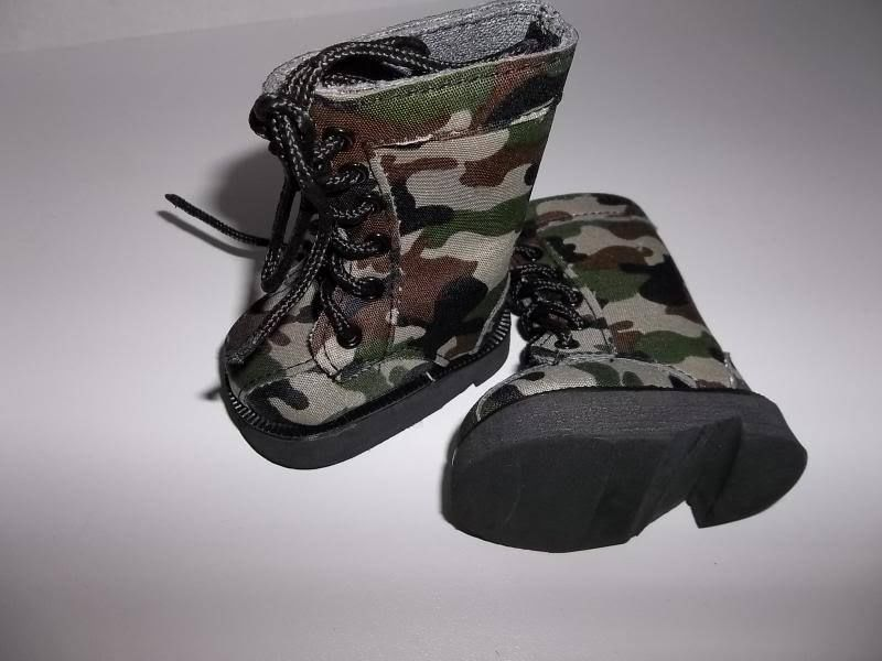 Green Camo Boots Shoes made for 18\