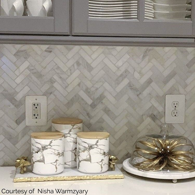 Shop For Asian Statuary Herringbone 1x3 Marble Tile At Tilebar Com 1000 In 2020 Herringbone Backsplash Kitchen Gray Kitchen Backsplash Farmhouse Kitchen Backsplash
